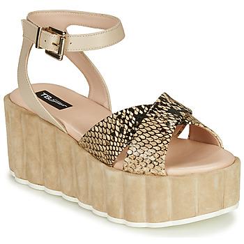 Sapatos Mulher Sandálias Tosca Blu MOOREA Bege