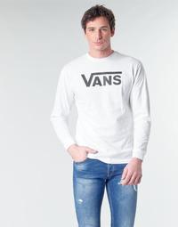 Textil Homem T-shirt mangas compridas Vans VANS CLASSIC Branco