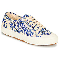 Sapatos Mulher Sapatilhas Superga 2294-COTFANW Bege / Azul
