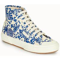 Sapatos Mulher Sapatilhas de cano-alto Superga 2295-COTFANW Bege / Azul