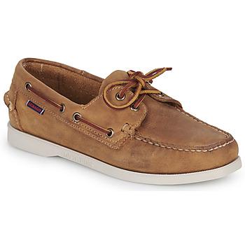 Sapatos Mulher Sapato de vela Sebago DOCKSIDES PORTLAND CRAZY H W Castanho