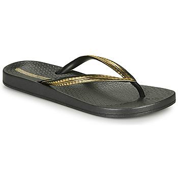 Sapatos Mulher Chinelos Ipanema MESH IV Preto / Ouro