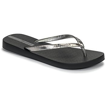 Sapatos Mulher Chinelos Ipanema GLAM II Preto / Prateado