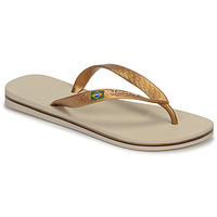 Sapatos Mulher Chinelos Ipanema CLAS BRASIL II Bege / Ouro