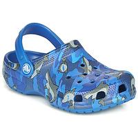Sapatos Rapaz Tamancos Crocs CLASSIC SHARK CLOG Azul