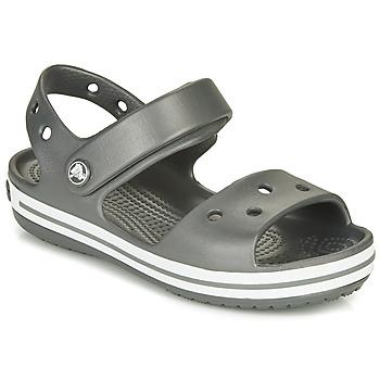Sapatos Criança Sandálias desportivas Crocs CROCBAND SANDAL KIDS Preto / Branco