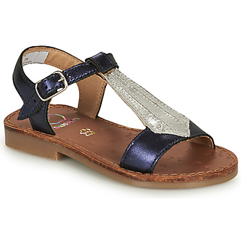 Sapatos Rapariga Sandálias Shoo Pom HAPPY TIE Azul / Prata