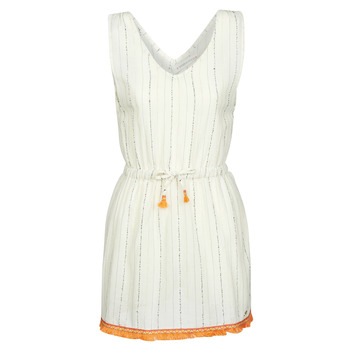 Textil Mulher Vestidos curtos Banana Moon MARZUL MANDALO Branco / Laranja