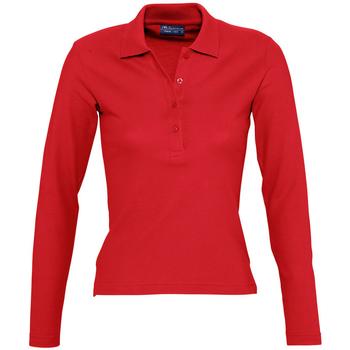 Textil Mulher Polos mangas compridas Sols PODIUM COLORS Rojo
