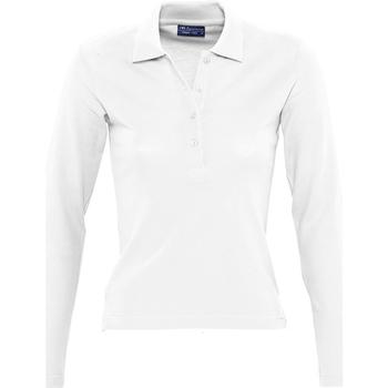 Textil Mulher Polos mangas compridas Sols PODIUM COLORS Blanco