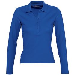 Textil Mulher Polos mangas compridas Sols PODIUM COLORS Azul