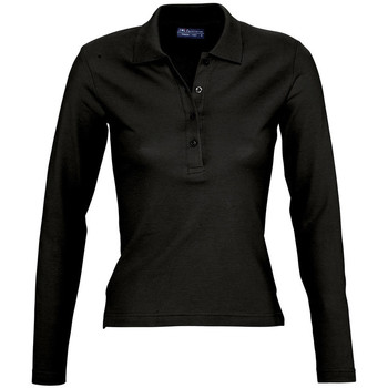 Textil Mulher Polos mangas compridas Sols PODIUM COLORS Negro