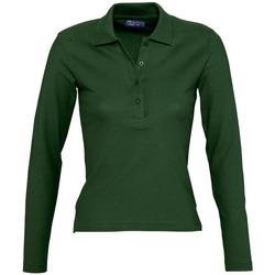 Textil Mulher Polos mangas compridas Sols PODIUM COLORS Verde