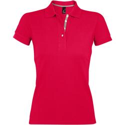 Textil Mulher Polos mangas curta Sols PORTLAND MODERN SPORT Rojo