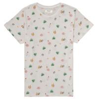 Textil Rapariga T-Shirt mangas curtas Deeluxe ELINA Branco