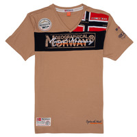 Textil Rapaz T-Shirt mangas curtas Geographical Norway JIDNEY Bege