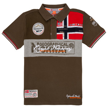 Textil Rapaz Polos mangas curta Geographical Norway KIDNEY Cáqui