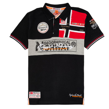 Textil Rapaz Polos mangas curta Geographical Norway KIDNEY Preto