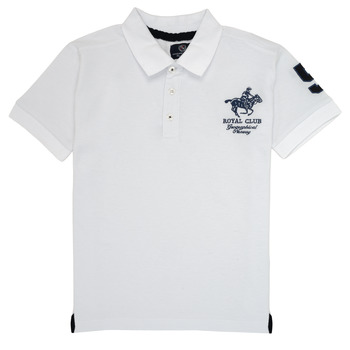 Textil Rapaz Polos mangas curta Geographical Norway KAMPAI Branco