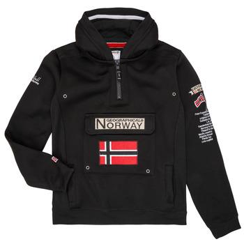 Textil Rapaz Sweats Geographical Norway GYMCLASS Preto