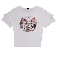 Textil Rapariga T-Shirt mangas curtas Ikks DIBILIOU Branco