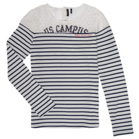 Textil Rapariga T-shirt mangas compridas Ikks DELLYSE Branco / Preto