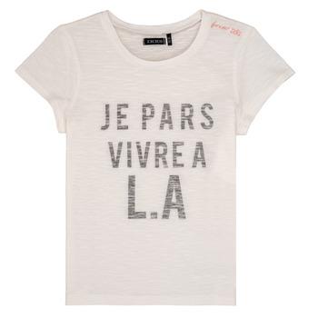 Textil Rapariga T-Shirt mangas curtas Ikks DARRIAL Branco