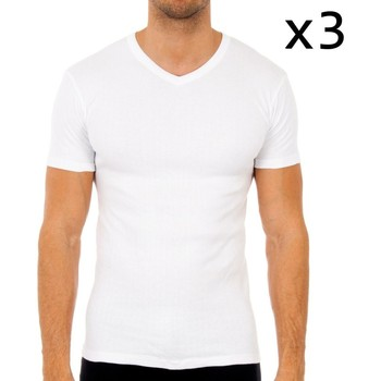 Roupa de interior Homem Camisolas de interior Abanderado Pack-3 camisetas m/corta termica Branco