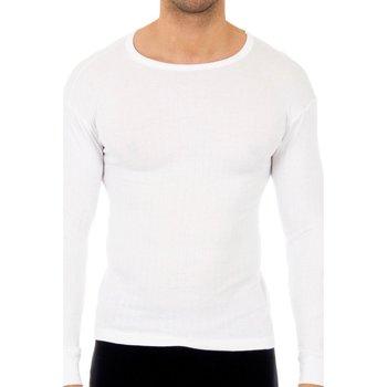 Roupa de interior Homem Camisolas de interior Abanderado Pack-3 camisetas algodón m.larga Branco