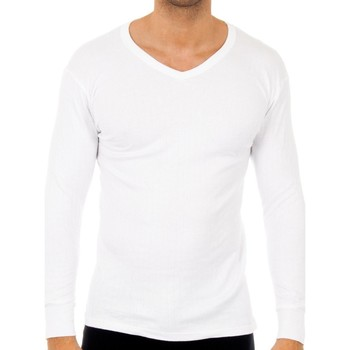 Roupa de interior Homem Camisolas de interior Abanderado Pack-3 camisetas algo. cuello pico Branco