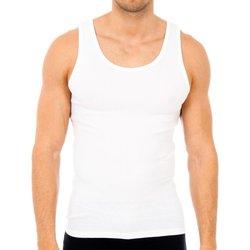 Roupa de interior Homem Camisolas de interior Abanderado Pack-6 camisetas tirantes caballero Branco