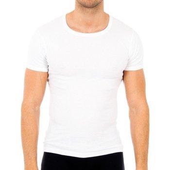 Roupa de interior Homem Camisolas de interior Abanderado Pack-6 camisetas manga corta cab Branco