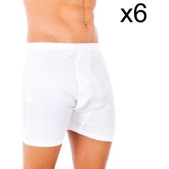 Roupa de interior Homem Boxer Abanderado Pack-6 boxer 100% algodón clasico Branco