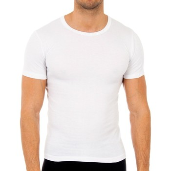 Roupa de interior Homem Camisolas de interior Abanderado Pack-3 camisetas fibra m/c blanco Branco