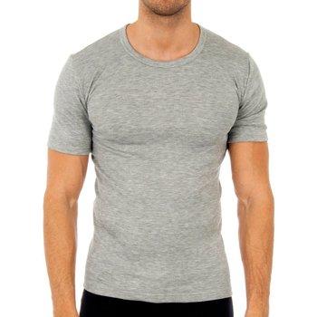 Roupa de interior Homem Camisolas de interior Abanderado Pack-3 camisetas fibra m/c blanco Cinza