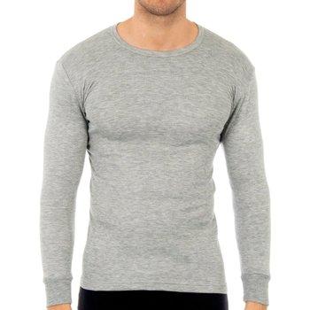 Roupa de interior Homem Camisolas de interior Abanderado Pack-3 camisetas fibra m/l blanco Cinza
