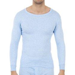 Roupa de interior Homem Camisolas de interior Abanderado Pack-3 camisetas fibra m/l blanco Azul