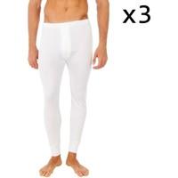 Roupa de interior Homem Boxer Abanderado Pack-3 pantalon interior fibra largo Branco