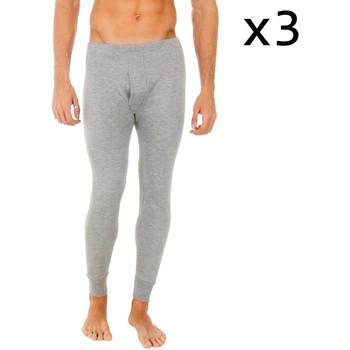 Roupa de interior Homem Boxer Abanderado Pack-3 pantalon interior fibra largo Cinza