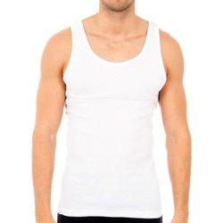 Roupa de interior Homem Camisolas de interior Abanderado Pack-6 camisetas tirantes blanco Branco