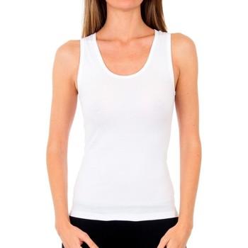 Roupa de interior Mulher Camisolas de interior Abanderado Pack 3 camiseta tirantes algodón Branco