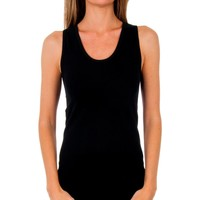 Roupa de interior Mulher Camisolas de interior Abanderado Pack 3 camiseta tirantes algodón Preto