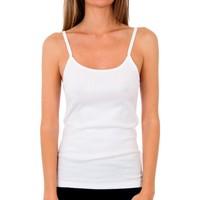 Roupa de interior Mulher Camisolas de interior Abanderado Pack 3 Camiseta pr.liberty trt blanco Branco