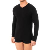 Roupa de interior Homem Camisolas de interior Abanderado Camiseta X-Temp m/larga Preto