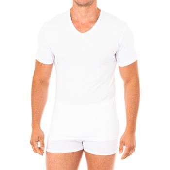 Roupa de interior Homem Camisolas de interior Abanderado Camiseta Advanced manga corta Branco