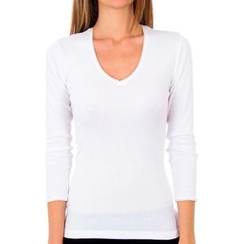 Roupa de interior Mulher Camisolas de interior Abanderado Pack 3 camiseta sra m/l thermal Branco