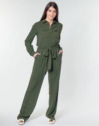 Textil Mulher Macacões/ Jardineiras MICHAEL Michael Kors ROLL SLV SAFARI JMPST Cáqui