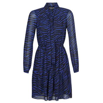 Textil Mulher Vestidos curtos MICHAEL Michael Kors BOLD BENGAL TIER DRS Azul / Preto
