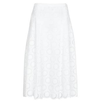 Textil Mulher Saias MICHAEL Michael Kors FLORAL EYLT LNG SKIRT Branco