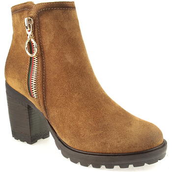 Sapatos Mulher Botins Oi L Ankle boots Lady Camel